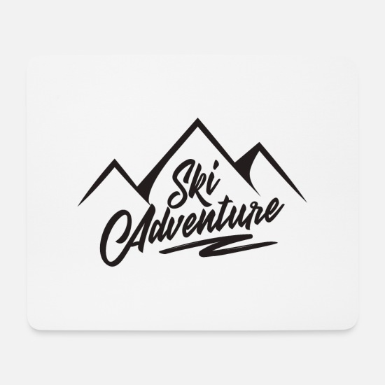 Gift Idea Mouse Pads - Skiing area gift mountain winter vacation Alps - Mouse Pad white