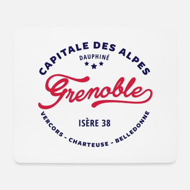 State Capital grenoble capital of the Alps - Mouse Pad