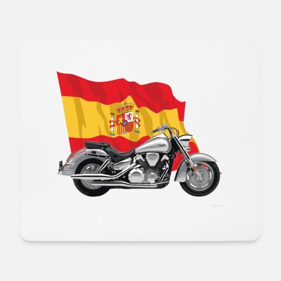 Motorcycle Mouse Pads - Motorcycle with Spain's abdnera - Mouse Pad white