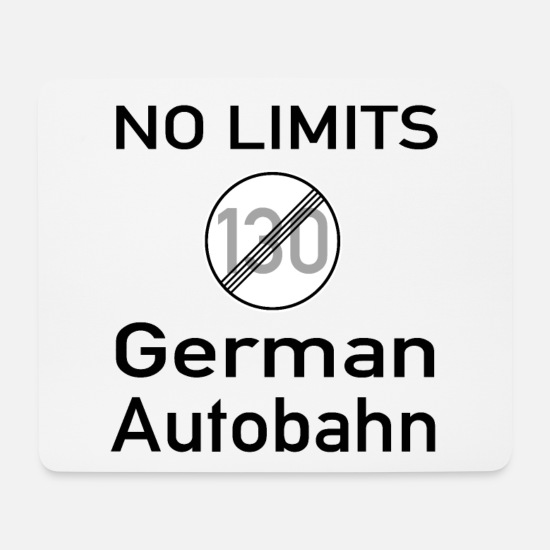 Germanen Mousepads  - German Autobahn - Mousepad Weiß