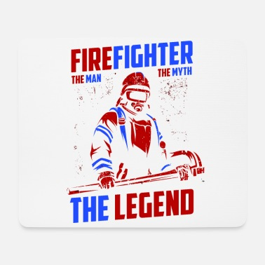 Cadeauidee Firefighter The Man The Myth The Legend Fire - Muismat