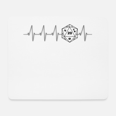 Rpg Heartbeat RPG Dice RPG black - Mouse Pad
