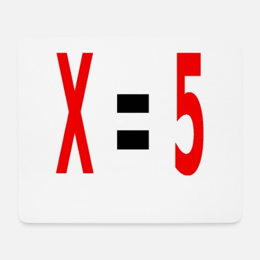 Variable Not Found x equals 5 v2 black - Mouse Pad