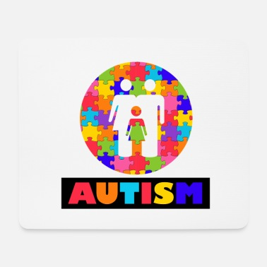 Autism Month Vintage Autism Autism Awareness Month - Mouse Pad