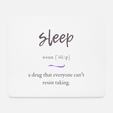 Spelling Sleep Definition Dictionary - Mouse Pad