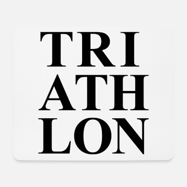 Bike TRIATHLON DESIGN GIFT TRIATHLET SWIM BIKE RUN - Mouse Pad