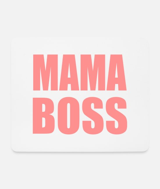 Minimum Mouse Pads - Mama Boss Design - Mouse Pad white