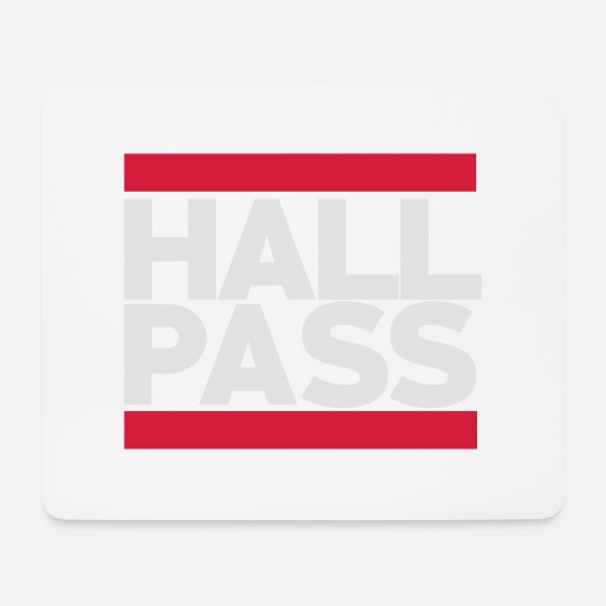 Dallas Mouse Pads - Hall Pass - Mouse Pad white