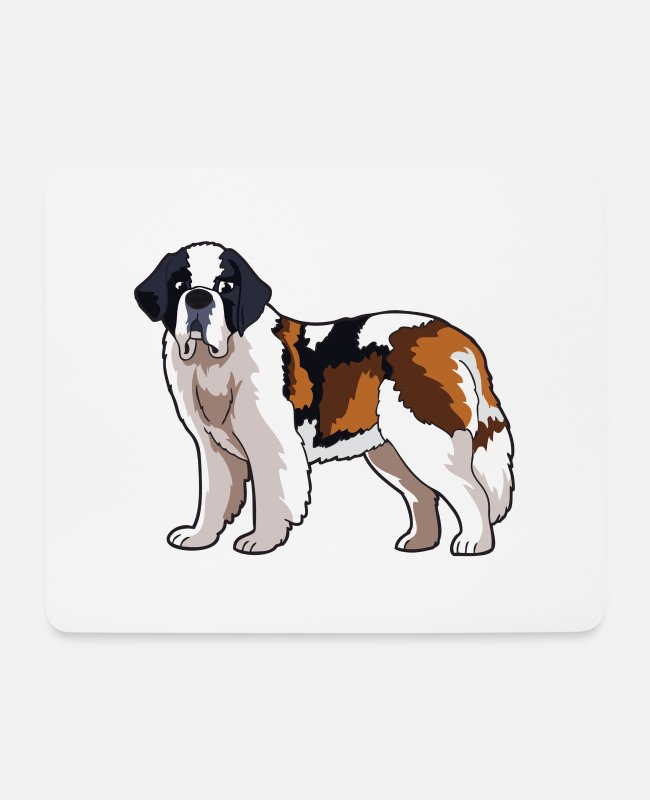 Mammal Mouse Pads - St Bernard Dog - Mouse Pad white