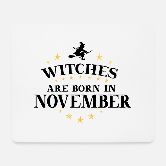 Birthday Mouse Pads - Witches November - Mouse Pad white