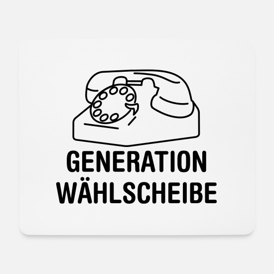 Phone Mouse Pads - Generation dial - Mouse Pad white