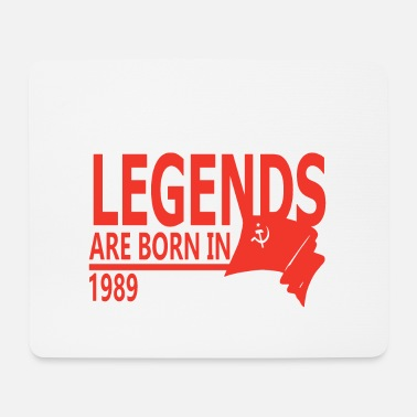 Remember Legends are Born in 1989 gift idea - Mouse Pad