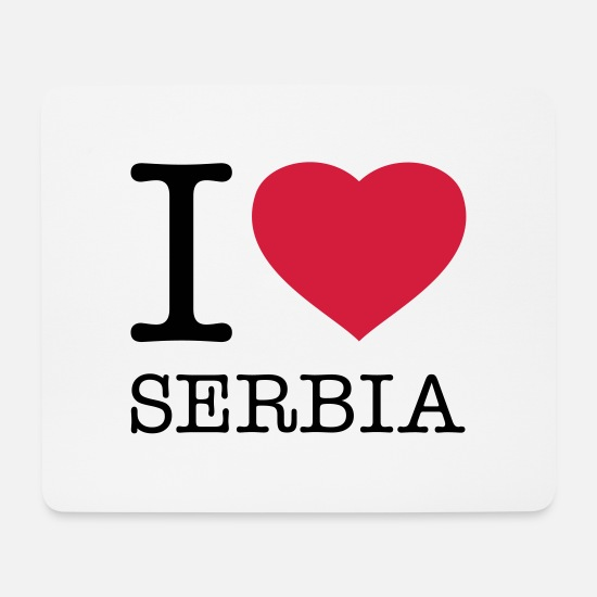 I Love Mouse Pads - I LOVE SERBIA - Mouse Pad white