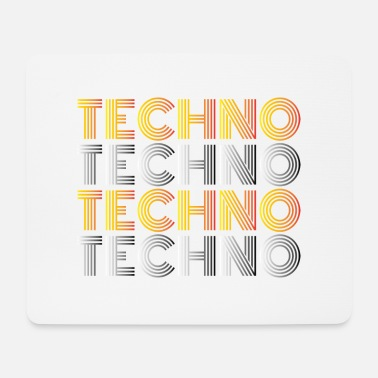 Techno Techno Techno Techno Techno minimal shirt - Mouse Pad