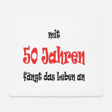 Birthday Greeting Birthday 50years - Mouse Pad