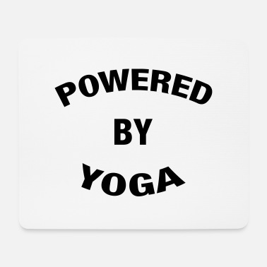 Slogan Powered By Yoga - Tapis de souris
