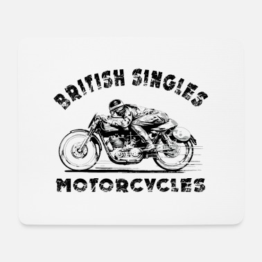Motorcycle british motorcycles - Mouse Pad