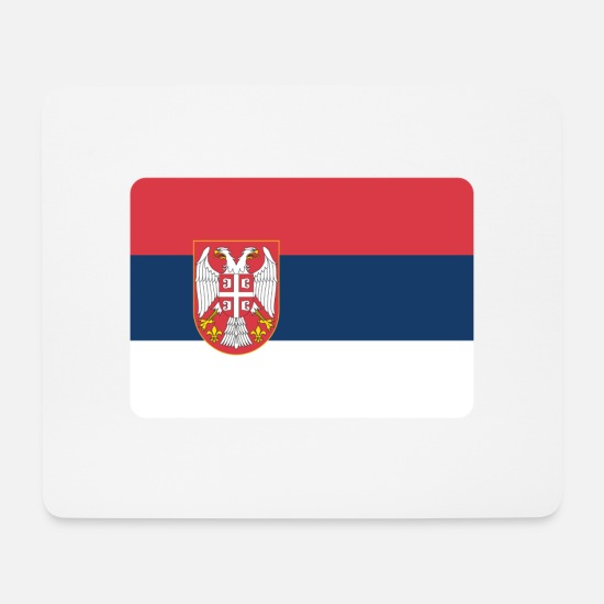 Belgrade Mouse Pads - SERBIA IS NO. 1 - Mouse Pad white