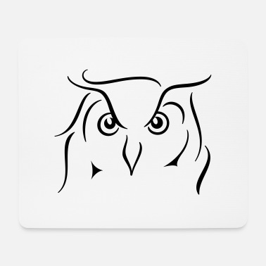 Line Drawing Eagle owl - line drawing gift idea gift - Mouse Pad