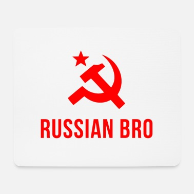 Russian russian bro russian brother - Mouse Pad