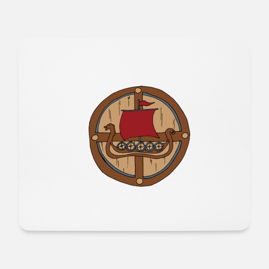 Viking Tapis de souris  - Viking Shield Vikings - Tapis de souris blanc