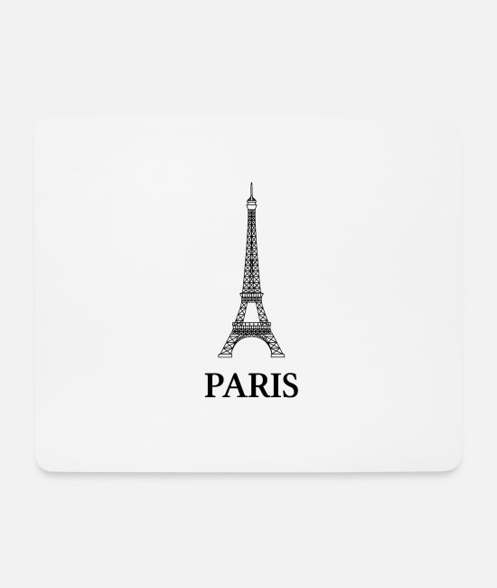French Mouse Pads - paris - Mouse Pad white