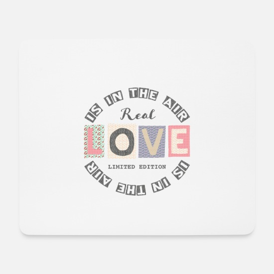 Stocking Stuffer Mouse Pads - Love is in the air - Lifestyle - Mouse Pad white