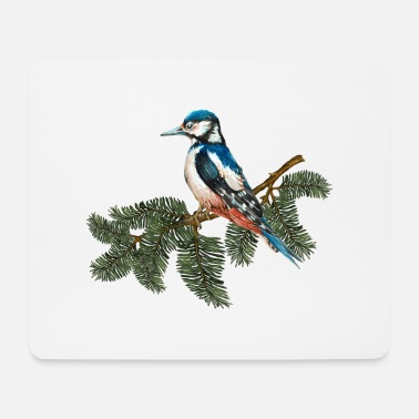 Fly Colorful bird - Mouse Pad