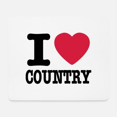 Country i love country / i heart country - Musemåtte