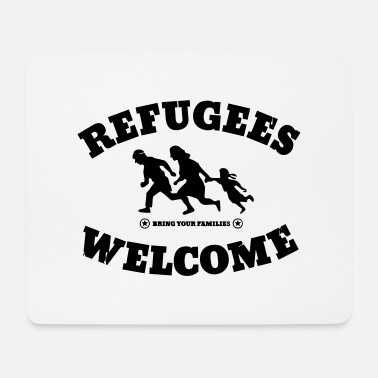 Anti War Refugees Welcome - Mouse Pad