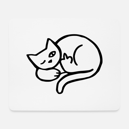 Cat Mouse Pads - bad cat - Mouse Pad white