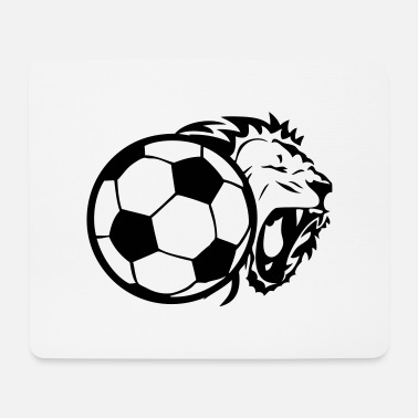 Ball Soccer ball lion - Mouse Pad