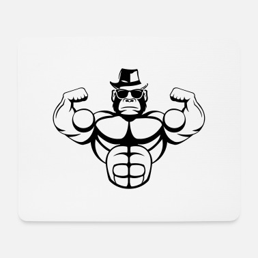 Muscle strong_gorilla_001 - Mouse Pad