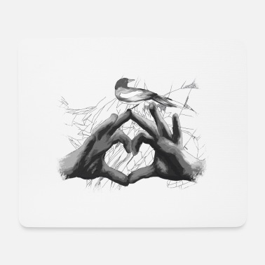 Love Collection V2 heart graphic - Mouse Pad