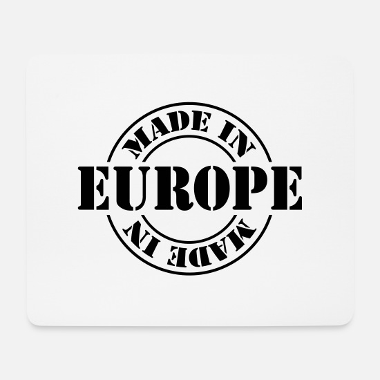 Europe Mousepads  - made in europe m1k2 - Mousepad Weiß