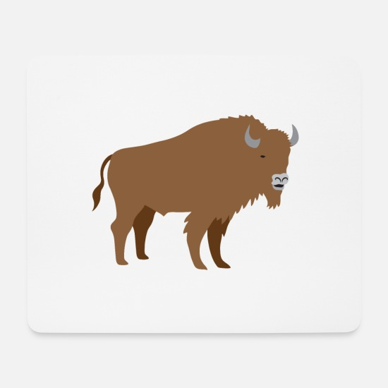Big Mouse Pads - Brown bison - Mouse Pad white