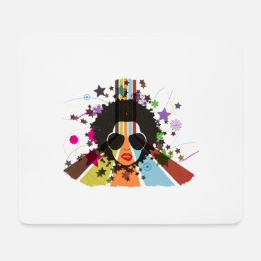 Retro Afro 80s | create your own T-shirts - Mouse Pad