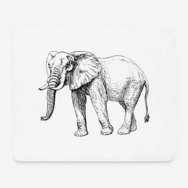 Elefant Schwarzweiß Tasse Weiß