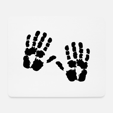 Handprint hand - Mouse Pad