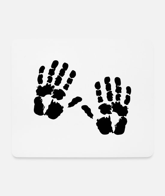 Hands Mouse Pads - Handprint hand - Mouse Pad white