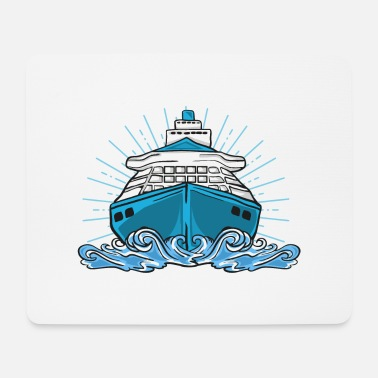 Cruise Ship Ship cruise lake sea cruise ship boat - Mouse Pad
