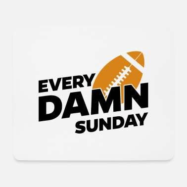 League Game Sunday American Football season league match game - Mouse Pad