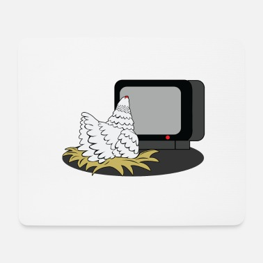 Watch Tv Chicken is watching TV - Mouse Pad