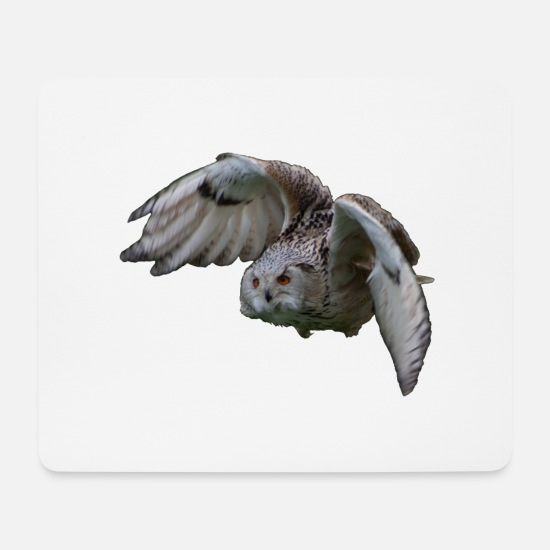 Fly Mouse Pads - Owl in flight - Mouse Pad white