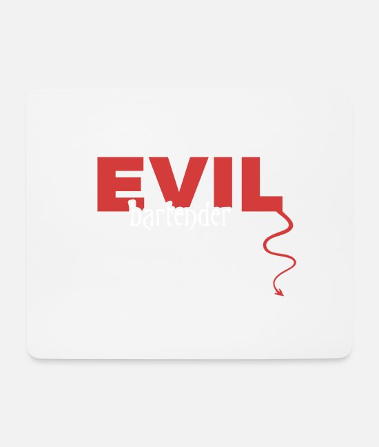 Owner Mouse Pads - evil - Mouse Pad white