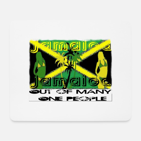 Rasta Mouse Pads - Jamaica - Mouse Pad white
