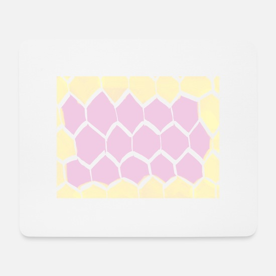 Pink Mouse Pads - honeycomb - Mouse Pad white