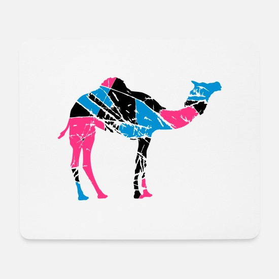 Age Mouse Pads - cracks scratch stamp sticker old camel - Mouse Pad white