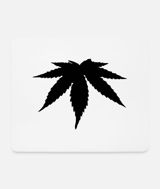 Gay Pride Mouse Pads - Cannabis marijuana - Mouse Pad white