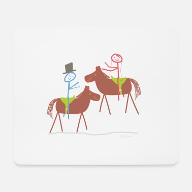 Relationship Marry horse, stick figure riding sport marriage - Mouse Pad